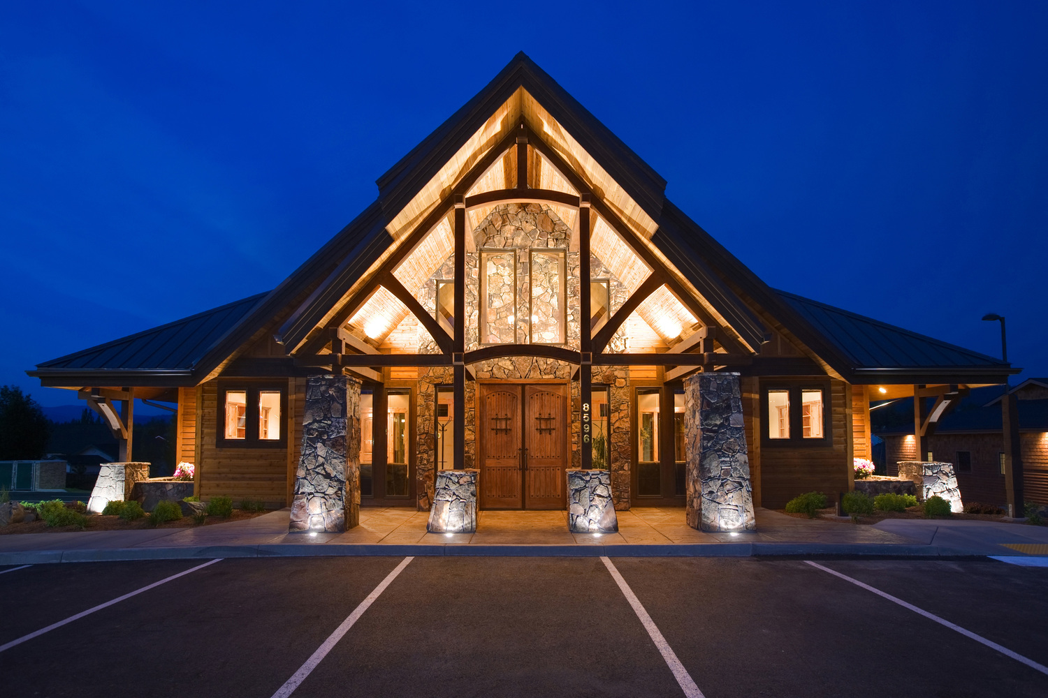 Crandall Law Group Office Building Night | Crandall Law Group | Hayden, Idaho