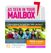 Crandall Law Group Estate Planning Promotion Sent via Post Card Mania