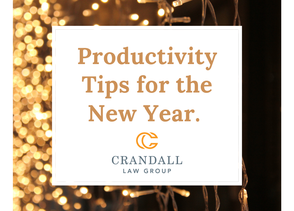 Productivity Tips for the New Year
